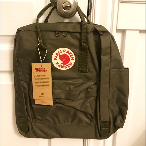 df44fc9e5 Fjallraven Bags | Fraven Kanken Backpack Army Green New With Tags ...